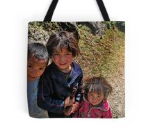 rural kids. nepal himalayas Tote Bag