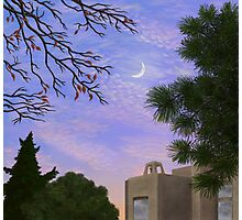 A View of the Moon at Twilight South of the Park Photographic Print