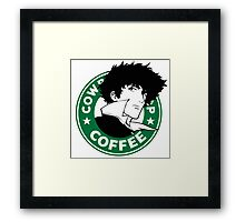 Cowboy Bebop X Starbucks Inspired Illustration. Framed Print