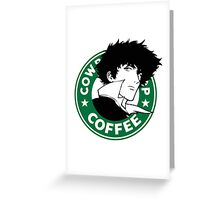 Cowboy Bebop X Starbucks Inspired Illustration. Greeting Card
