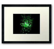 Green Blocks Framed Print