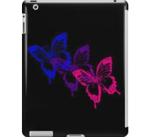 Bisexual Flag Butterflies on Black iPad Case/Skin