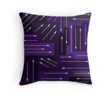 Purple Arrows Throw Pillow