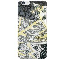 Leaves 28 Mixed Media - Ink on Acrylic Monoprint iPhone Case/Skin