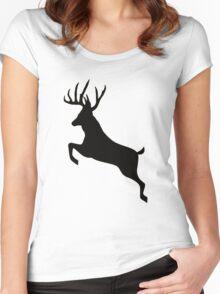 Buck deer  Women's Fitted Scoop T-Shirt