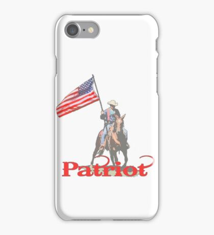 Mounted Patriot  iPhone Case/Skin