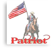Mounted Patriot  Canvas Print