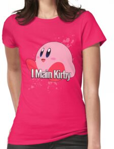 I Main Kirby - Super Smash Bros. Womens Fitted T-Shirt