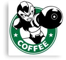 MegaMan X Starbucks Inspired Art Canvas Print