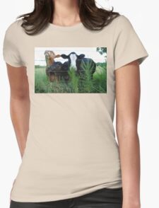 The Three MOOsketeers  Womens Fitted T-Shirt