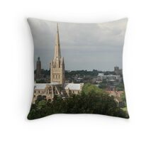 Cathedrals of Norwich. Throw Pillow