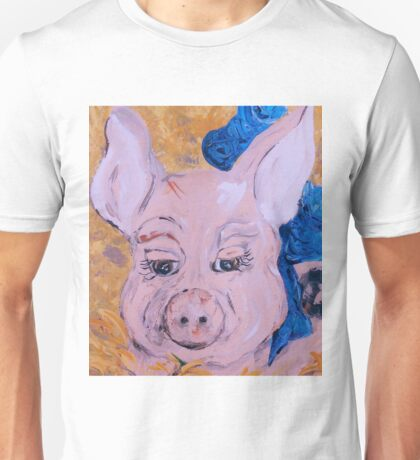 Blue Ribbon Pig Unisex T-Shirt