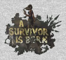 A Survivor Is Born Kids Tee