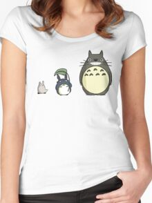 My neighbor Totoro! - Height comparison Women's Fitted Scoop T-Shirt