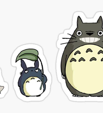 My neighbor Totoro! - Height comparison Sticker