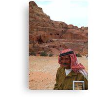 Vendor in Petra, Jordan Canvas Print