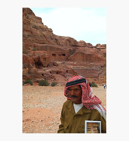 Vendor in Petra, Jordan Photographic Print