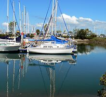 Marina Reflection by Graeme  Hyde