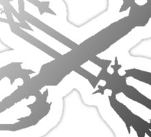 Oathkeeper and Oblivion Black and White Sticker