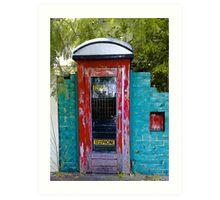 Come in through my telephone box Art Print