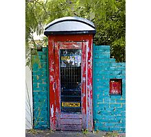 Come in through my telephone box Photographic Print