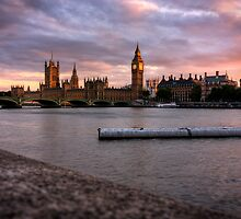 Big Ben and the Thames by hackysack