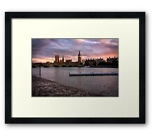 Big Ben and the Thames Framed Print