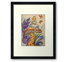 Sitting on a toadstool Framed Print
