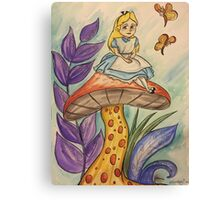 Sitting on a toadstool Canvas Print
