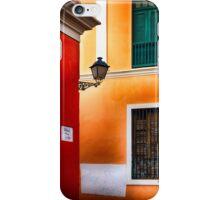 Old San Juan Street Corner iPhone Case/Skin