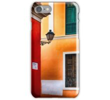 Old San Juan Street Corner iPhone Case/Skin