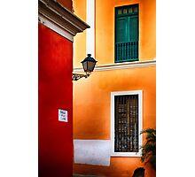 Old San Juan Street Corner Photographic Print