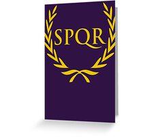 Camp Jupiter SPQR Shirt Greeting Card