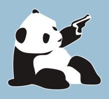 Baby Banksy Panda Gun Kids Tee