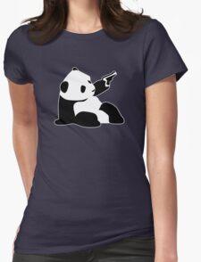 Baby Banksy Panda Gun Womens Fitted T-Shirt