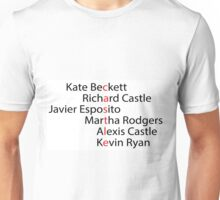 Castle Word Art Unisex T-Shirt