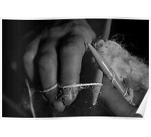 Knitting Hands Poster