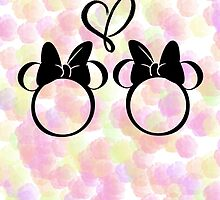 minnie & minnie - roses by mickiemouse