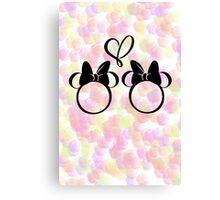 minnie & minnie - roses Canvas Print