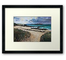 North End Beach, Iona Framed Print