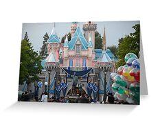 Disneyland 60 castle Greeting Card