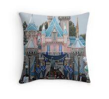 Disneyland 60 castle Throw Pillow