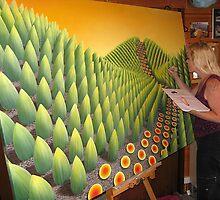 Painter @ work by Patricia Van Lubeck