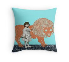 Pet Lion Throw Pillow