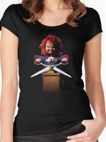 Childs Play Chucky Women's Fitted Scoop T-Shirt