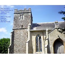 Bell Tower of Lytchett Parish Church Photographic Print