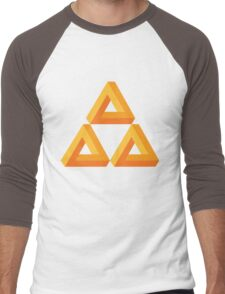 Impossible Triforce  Men's Baseball ¾ T-Shirt