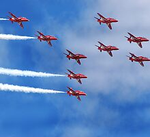 Red Arrows by Tony Dewey