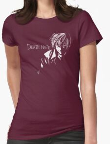 Deathnote Anime Womens Fitted T-Shirt