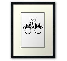 minnie & minnie - white Framed Print
